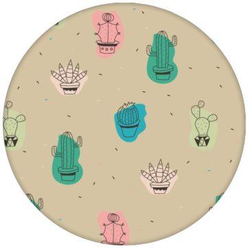 """Bunte Design Tapete """"Wüstenzauber"""" mit lustigen Kakteen auf beige Wandgestaltung Vliestapete Kaktus"""