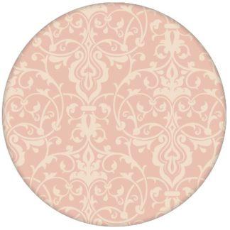 Ornament Tapete mit klassischem Damast Muster auf rosa Schlafzimmer Vliestapete