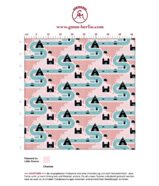 """Rosa , moderne Tapete """"Weltenbummler"""" mit Strassen, Burgen und Pyramiden auf rosa angepasst an Little Greene Wandfarben- Vliestapete Kinder"""