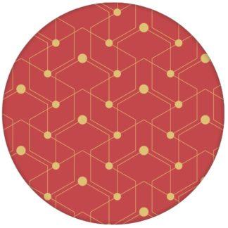 """Grafische Design Tapete """"Celestial Dots"""" kleines Muster in rot Vliestapete grafische Wandgestaltungaus dem GMM-BERLIN.com Sortiment: gelbe Tapete zur Raumgestaltung: #gelb #Grafik #Ikea #Linien #punkte #rot #tapete für individuelles Interiordesign"""