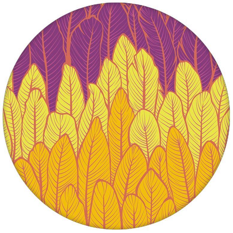 Moderne Streifentapete mit Federn in gelb rosa Vlies Tapete Streifenaus dem GMM-BERLIN.com Sortiment: gelbe Tapete zur Raumgestaltung: #Boho #Federn #gelb rosa #RAL #streifen #tapete für individuelles Interiordesign