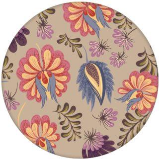 Florale Tapete mit großen Blüten auf beige Vliestapete Blumen für Wohnzimmer aus den Tapeten Neuheiten Blumentapeten und Borten als Naturaltouch Luxus Vliestapete oder Basic Vliestapete