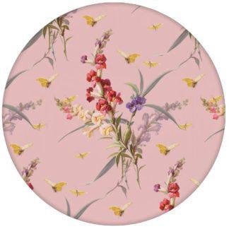 """Blüten Retro Tapete """"Blissful Spring"""" mit Schmetterlingen auf rosa Vliestapete Blumen für Schlafzimmer aus den Tapeten Neuheiten Blumentapeten und Borten als Naturaltouch Luxus Vliestapete oder Basic Vliestapete"""