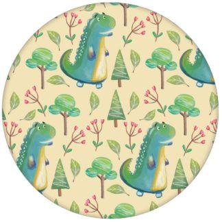 """""""Im Zauberwald"""" - lustige Kindertapete mit kleinen Drachen auf gelb Vliestapete Kinderzimmer"""