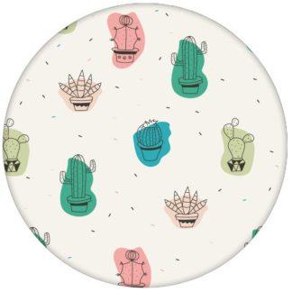 """""""Wüstenzauber"""" Lustige Design Tapete mit bunten Kakteen Wandgestaltung Kaktus Vliestapete Blumen aus den Tapeten Neuheiten Blumentapeten und Borten als Naturaltouch Luxus Vliestapete oder Basic Vliestapete"""