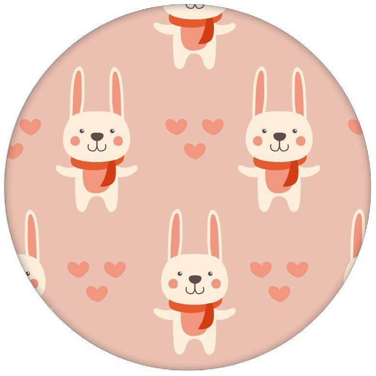 """Rosa Kinderzimmer Tapete """"Häschen Klein"""" mit Hasen und Herzen Vliestapete Jugendzimmer aus den Tapeten Neuheiten Exklusive Tapete für schönes Wohnen als Naturaltouch Luxus Vliestapete oder Basic Vliestapete"""
