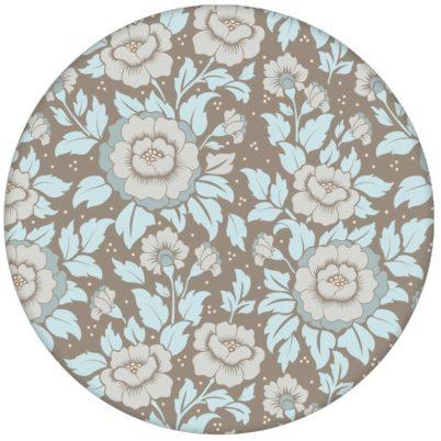"""Schöne florale Tapete """"Mein Rosengarten"""" mit Rosen Blüten in hellblau für Schlafzimmer"""