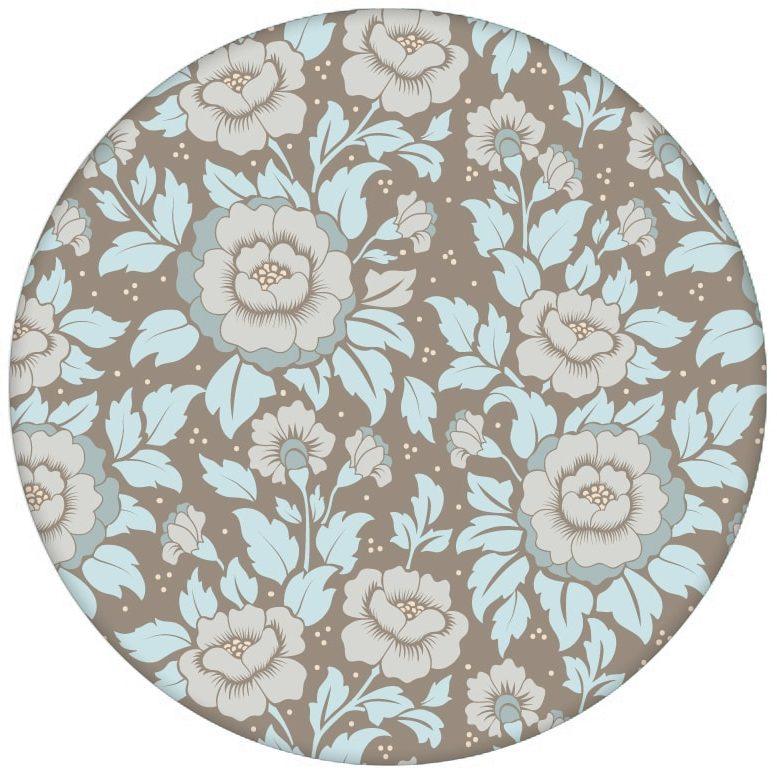 """Schöne florale Tapete """"Mein Rosengarten"""" mit Rosen Blüten in hellblau für Schlafzimmeraus dem GMM-BERLIN.com Sortiment: blaue Tapete zur Raumgestaltung: #Ambiente #blueten #blumen #interior #interiordesign #Klassiker #LittleGreene #Nobel #Nostalgie #rosen #Stil #üppig für individuelles Interiordesign"""