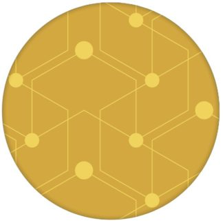 "Auffallende Ornament Tapete ""Celestial Dots"" großes Muster in gelb Vliestapete grafische Wandgestaltung"