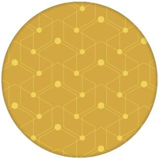 """Auffallende Design Tapete """"Celestial Dots"""" kleines Muster in gelb Vliestapete grafische Wandgestaltungaus dem GMM-BERLIN.com Sortiment: gelbe Tapete zur Raumgestaltung: #gelb #Grafik #Ikea #Linien #punkte #tapete für individuelles Interiordesign"""