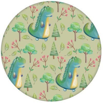 Grüne Kindertapete mit kleinen Drachen im Zauberwald Vliestapete Kinderzimmer aus den Tapeten Neuheiten Exklusive Tapete für schönes Wohnen als Naturaltouch Luxus Vliestapete oder Basic Vliestapete