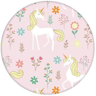 Traum Kindertapete mit magischem Einhorn auf rosa Mädchen Vliestapete Kinderzimmeraus dem GMM-BERLIN.com Sortiment: rosa Tapete zur Raumgestaltung: #Einhorn #Little Greene #maerchen #Magie #rosa #tapete für individuelles Interiordesign