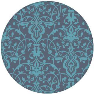 Edle blaue Ornament Tapete mit klassischem Damast Muster Vliestapete aus den Tapeten Neuheiten Exklusive Tapete für schönes Wohnen als Naturaltouch Luxus Vliestapete oder Basic Vliestapete