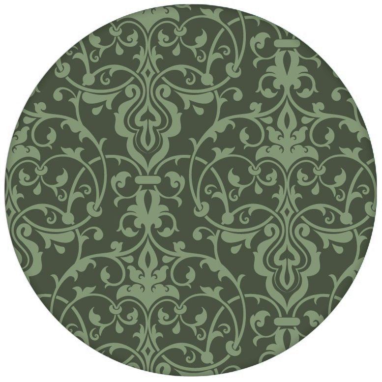Klassische Ornament Tapete mit üppigem Damast Muster auf grün Vliestapeteaus dem GMM-BERLIN.com Sortiment: grüne Tapete zur Raumgestaltung: #Ambiente #Damast #FarrowandBall #floral #interior #interiordesign #Nobel #ornament #Schloss #Stil #stilvoll für individuelles Interiordesign