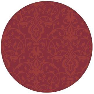 Rote edle Ornament Tapete mit klassischem Damast Muster Vliestapete