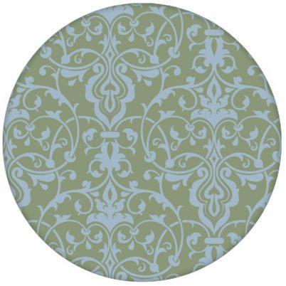 Schöne, üppige Ornament Tapete mit klassischem Damast Muster in hellblau grün Vliestapete
