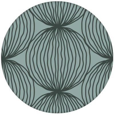 "Grüne moderne Design Tapete ""Grafic Pompoms"" mit Kreis Kugel Motiv Wandgestaltung"