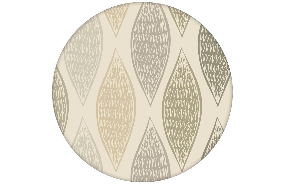 """Beige moderne Designer Tapete """"Regenbogen Waben"""" mit Farbverlauf angepasst an Farrow and Ball Wandfarben"""
