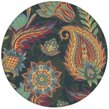 """Edle blaue Design Tapete """"Classic Paisley"""" mit dekorativem Blatt Muster (klein) für Wohnzimmeraus dem GMM-BERLIN.com Sortiment: blaue Tapete zur Raumgestaltung: #Ambiente #blau #Farrow and Ball #floral #interior #interiordesign #Paisley #Stil #üppig für individuelles Interiordesign"""