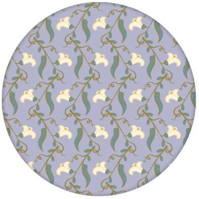 """Klassische lila Design Tapete """"Happy Peas"""" mit blühenden Erbsen Ranken (klein) für Schlafzimmer"""