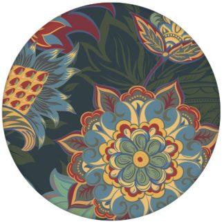 """Groß gemusterte blaue Design Tapete """"Classic Paisley"""" mit dekorativem Blatt Muster für Wohnzimmer"""