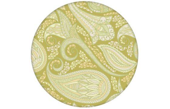 "Grüne edle Design Tapete ""Grand Paisley"" mit großem dekorativem Blatt Muster für Küche Bad Flur"
