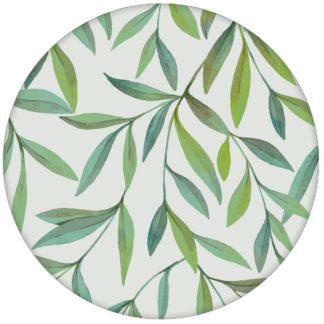 """Zarte schöne Weiden Tapete """"Magic Willow"""" mit Blätter Dekor auf grau für Wohnzimmer"""