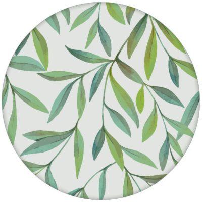 """Zarte schöne Weiden Tapete """"Magic Willow"""" mit Blätter Dekor auf grau für Wohnzimmer aus den Tapeten Neuheiten Blumentapeten und Borten als Naturaltouch Luxus Vliestapete oder Basic Vliestapete"""