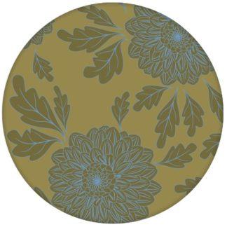 """Eleganter Tapeten Klassiker hellblau grün """"Pompadour Dahlien"""" mit edlen Blüten für Wohnzimmer"""
