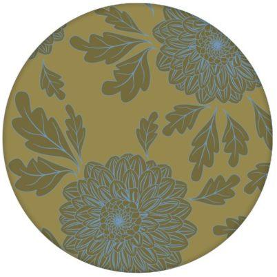 """Eleganter Tapeten Klassiker hellblau grün """"Pompadour Dahlien"""" mit edlen Blüten für Wohnzimmeraus dem GMM-BERLIN.com Sortiment: grüne Tapete zur Raumgestaltung: #Ambiente #asiatisch #Asien #blueten #blumen #Dahlien #floral #hellblau #interior #interiordesign #Little Greene #üppig für individuelles Interiordesign"""