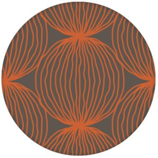 "Orange moderne Design Tapete ""Grafic Pompoms"" mit Kreis Kugel Motiv Vliestapete"