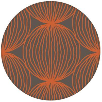 """Orange moderne Design Tapete """"Grafic Pompoms"""" mit Kreis Kugel Motiv Vliestapete aus den Tapeten Neuheiten Exklusive Tapete für schönes Wohnen als Naturaltouch Luxus Vliestapete oder Basic Vliestapete"""