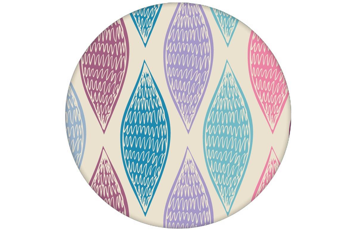 """Lila moderne Design Tapete """"Regenbogen Waben"""" mit bunten Farben für Büro Küche"""