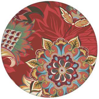 """Groß gemusterte rote Design Tapete """"Classic Paisley"""" mit dekorativem Blatt Muster für Schlafzimmer"""