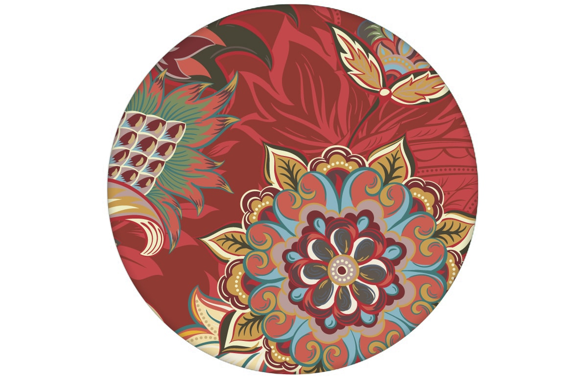Groß gemusterte rote Design Tapete