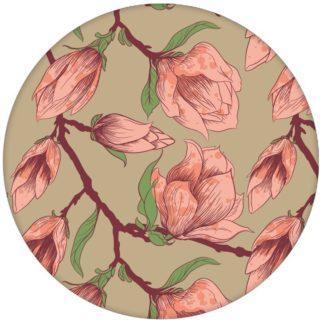 """Edle beige Blumen Tapete """"Blooming Magnolia"""" mit blühender Magnolie für Schlafzimmeraus dem GMM-BERLIN.com Sortiment: braune Tapete zur Raumgestaltung: #beige #blueten #blühen #blumen #Farrow and Ball #fruehling #Magnolie #schlafen #Wohnzimmer für individuelles Interiordesign"""