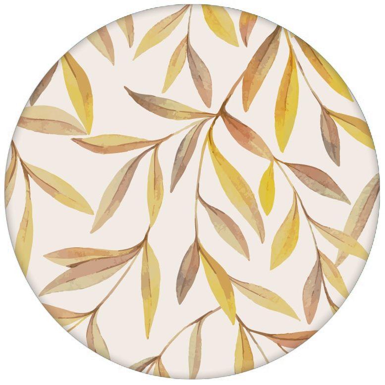 """Sonnige Weiden Tapete """"Magic Willow"""" mit Blätter Dekor auf beige für Wohnzimmer"""