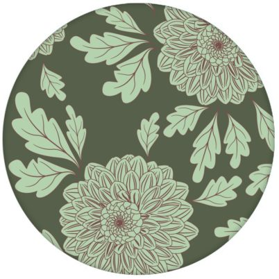 """Eleganter Design Tapeten Klassiker grün """"Pompadour Dahlien"""" mit edlen Blüten für Wohnzimmer"""