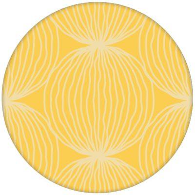 """Gelbe moderne Design Tapete """"Grafic Pompoms"""" mit Kreis Kugel Motiv für Wohnzimmer"""