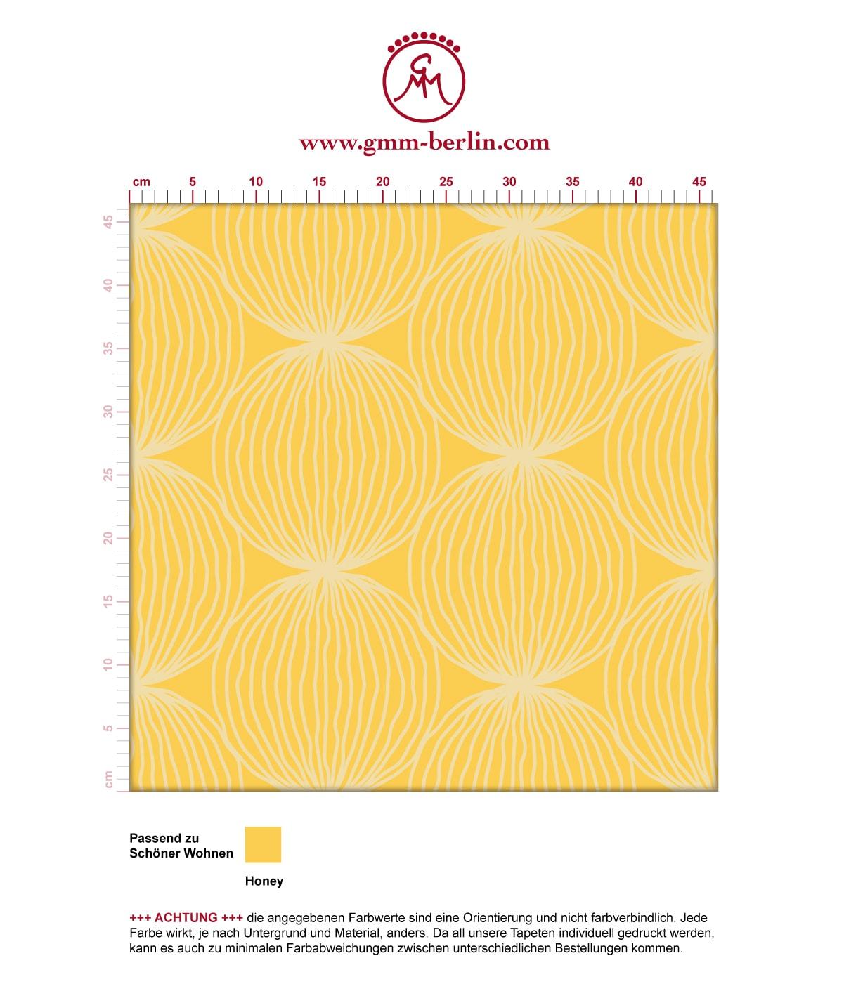 Gelbe moderne Designer Tapete