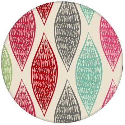 """Rote moderne Design Tapete """"Regenbogen Waben"""" mit bunten Farben für Küche Flur Büro"""