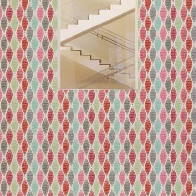 """Rote moderne Design Tapete """"Regenbogen Waben"""" mit bunten Farben Vliestapeten Wandgestaltung"""