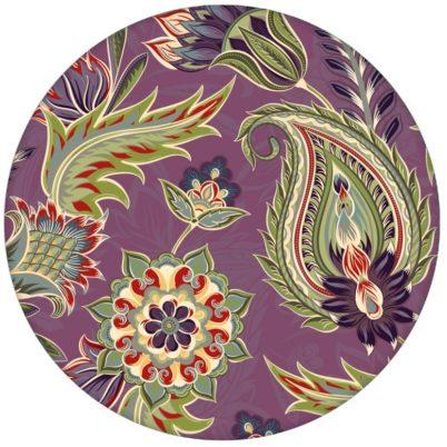 """Lila edle Design Tapete """"Classic Paisley"""" mit dekorativem Blatt Muster (klein) für Schlafzimmer"""