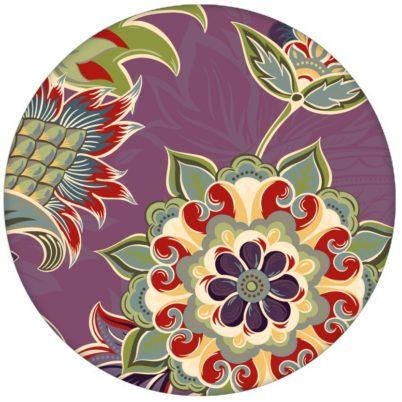 """Groß gemusterte lila Design Tapete """"Classic Paisley"""" mit dekorativem Blatt Muster für Schlafzimmeraus dem GMM-BERLIN.com Sortiment: lila Tapete zur Raumgestaltung: #Ambiente #floral #Ikea #interior #interiordesign #lila #Paisley #Stil #üppig für individuelles Interiordesign"""