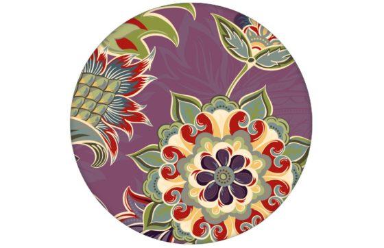 """Groß gemusterte lila Design Tapete """"Classic Paisley"""" mit dekorativem Blatt Muster für Schlafzimmer"""