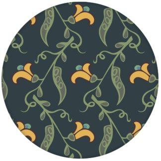 """Groß gemusterte klassisch blaue Tapete """"Happy Peas"""" mit blühenden Erbsen Ranken für Schlafzimmer aus den Tapeten Neuheiten Blumentapeten und Borten als Naturaltouch Luxus Vliestapete oder Basic Vliestapete"""