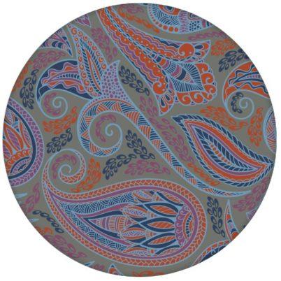 """Graue edle Design Tapete """"Grand Paisley"""" mit großem dekorativem Blatt Muster für Schlafzimmer"""