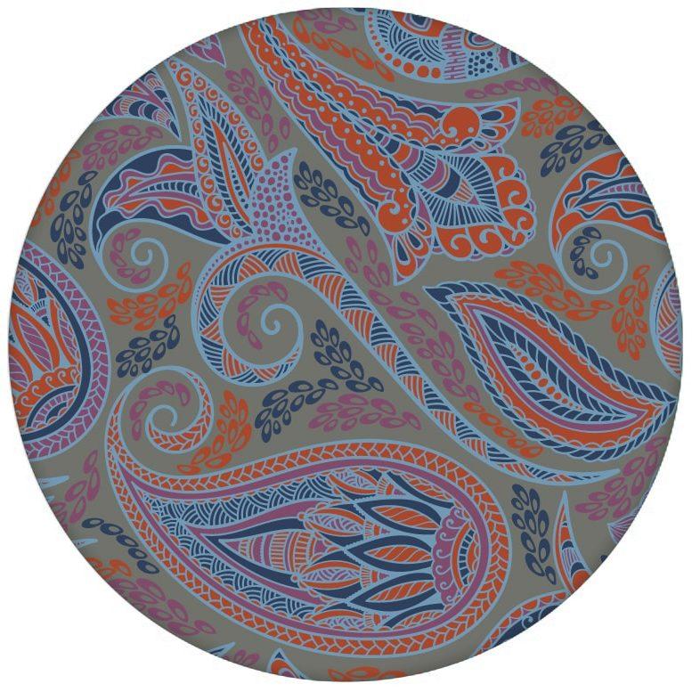 """Graue edle Design Tapete """"Grand Paisley"""" mit großem dekorativem Blatt Muster für Schlafzimmer aus den Tapeten Neuheiten Exklusive Tapete für schönes Wohnen als Naturaltouch Luxus Vliestapete oder Basic Vliestapete"""