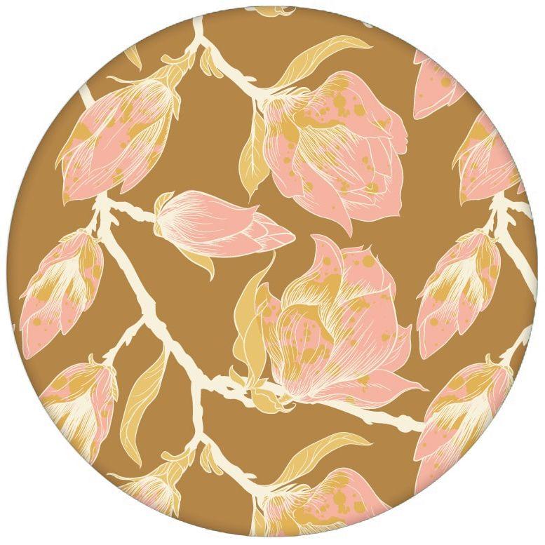 """Tolle rosa Blumen Tapete """"Blooming Magnolia"""" mit blühender Magnolie für Wohnzimmer"""