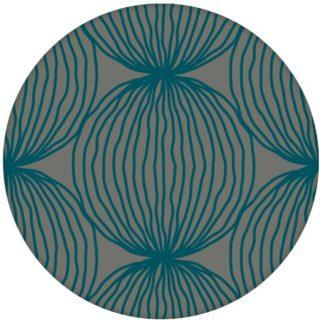 """Petrol farbene moderne Design Tapete """"Grafic Pompoms"""" mit Kreis Kugel Motiv Wandgestaltungaus dem GMM-BERLIN.com Sortiment: blaue Tapete zur Raumgestaltung: #Arbeitszimmer #blau #Büro #Design #grafisch #Ikea #kreise #kueche #Kugeln #modern für individuelles Interiordesign"""
